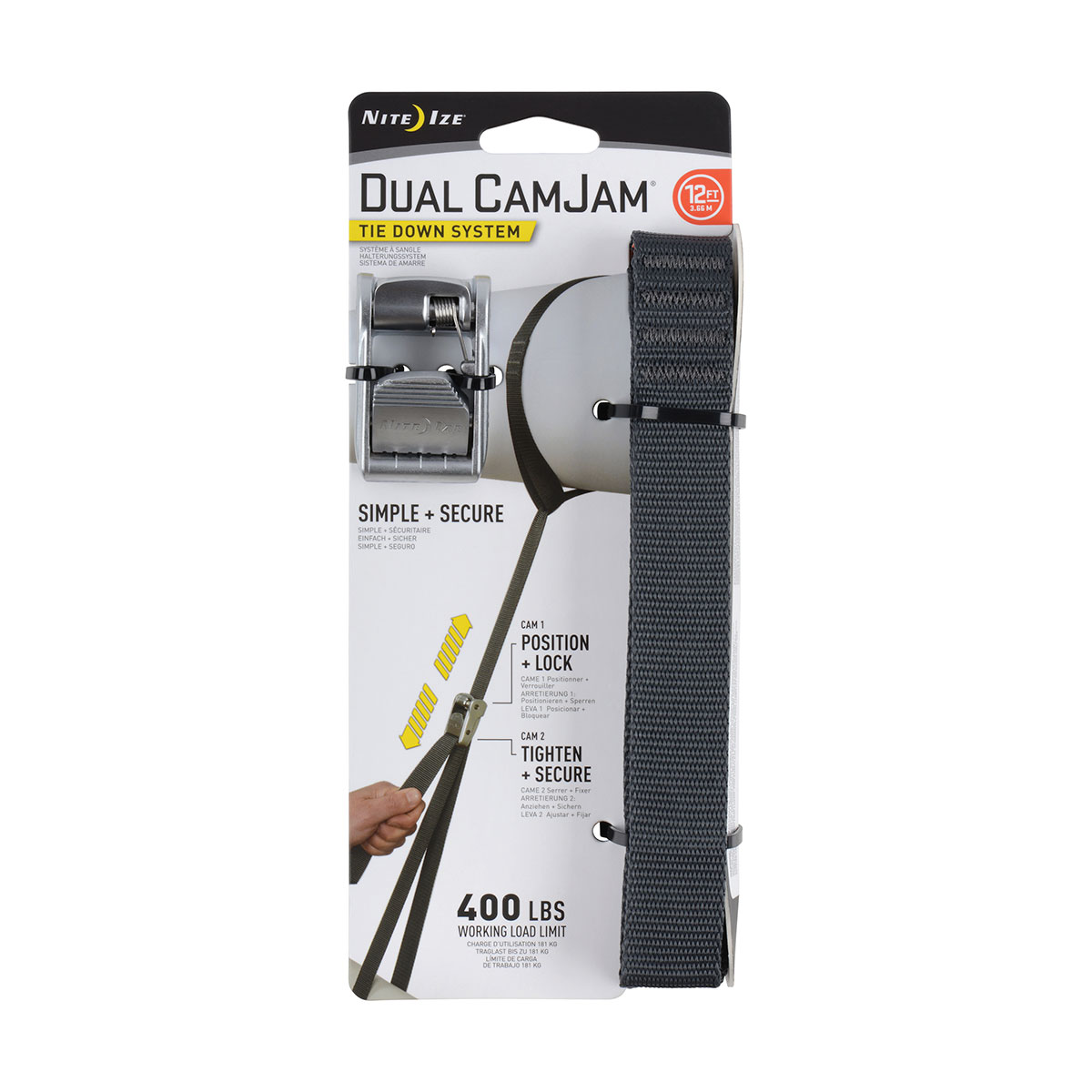 Dual CamJam Tie Down System 12 FT