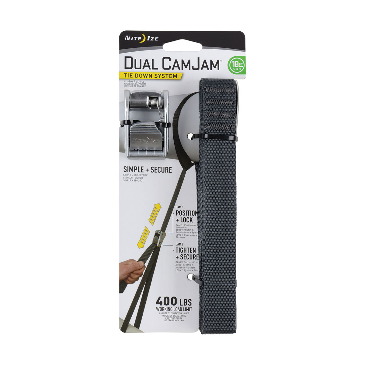 Dual CamJam Tie Down System 18 FT
