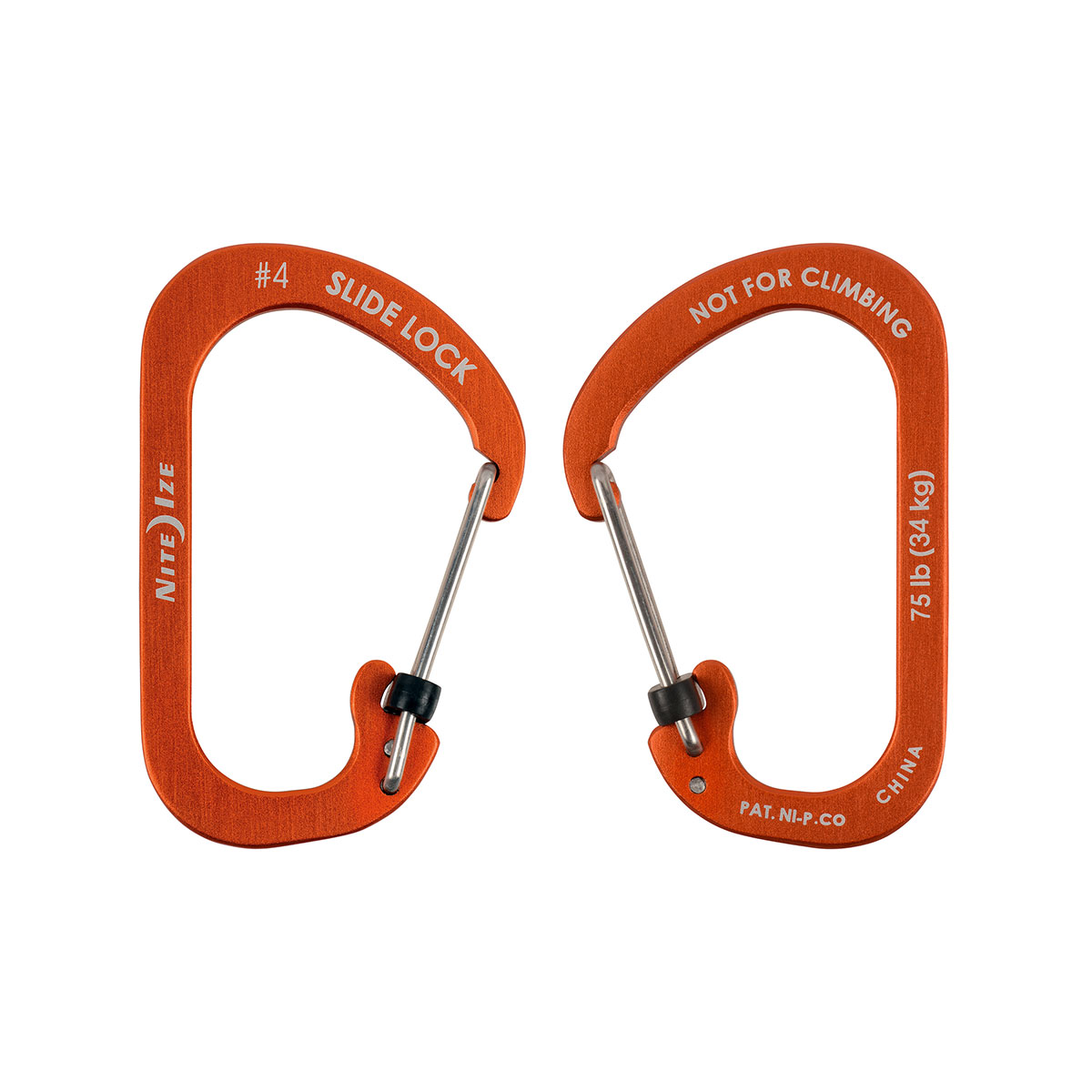 SlideLock Carabiner Aluminum #4 - Orange