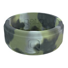 Men's Brush Camo Flat Step Q2X Ring Size 08