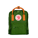 Kanken Mini Leaf Green-Burnt Orange