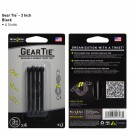 "Gear Tie 3"" 4 Pack - Black"