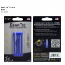 "Gear Tie 3"" 4 Pack - Blue"