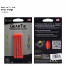 "Gear Tie 3"" 4 Pack - Bright Orange"