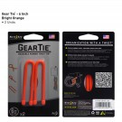 "Gear Tie 6"" 2 Pack - Bright Orange"