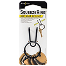 SqueezeRing Easy Load Key Clip - Black