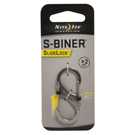 SlideLock Steel S-Biner - # 2 Stainless