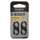 MicroLock Steel S-Biner - 2 Pack Black