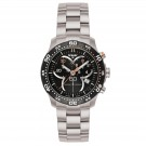LadyTime Chronograph Black / Steel Band