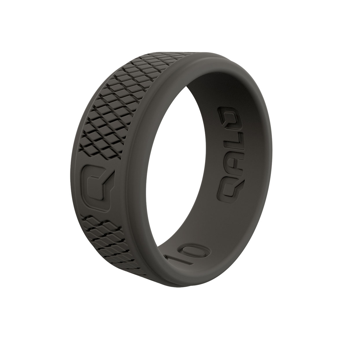 Men's Crosshatch Dark Grey Q2X Ring Size 11