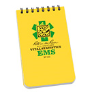 Top Spiral 3 x 5 Emergency Medical Services Polydura Notebook - Yellow