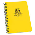 Side Spiral 4.625 x 7 Polydura Notebook - Universal - Yellow