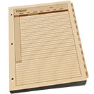 Maxi Daily Planner Refill 8.5 X 11 With 3 Hole Punch - Tan - 1 Year