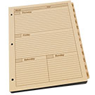 Maxi Weekly Planner Refill 8.5 X 11 With 3 Hole Punch - Tan - 1 Year